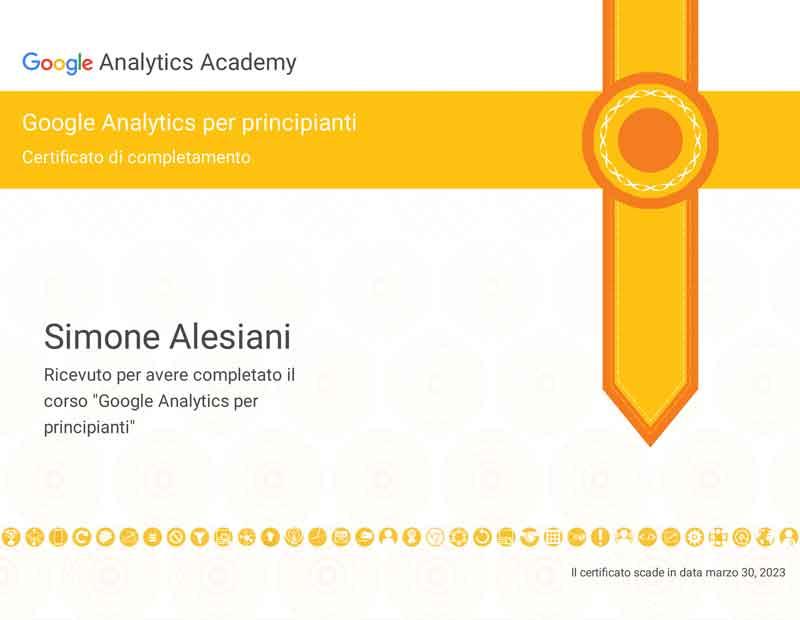 certificato-google-analytics-principiante-esperto-analytics-simone alesiani