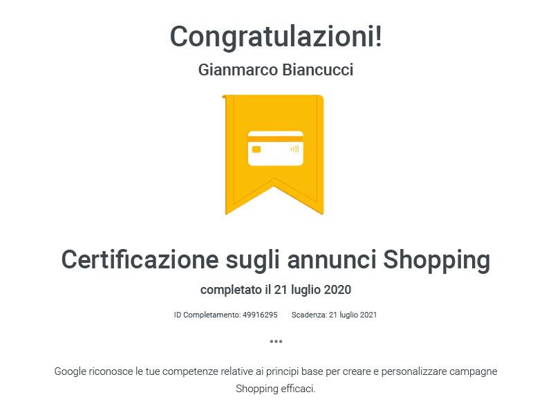 certificazione-google-shopping-consulente-seo-sem-gianmarco-biancucci